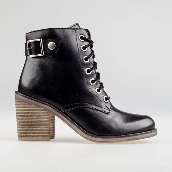Bottines - OLLA Black à lacets en cuir - 42