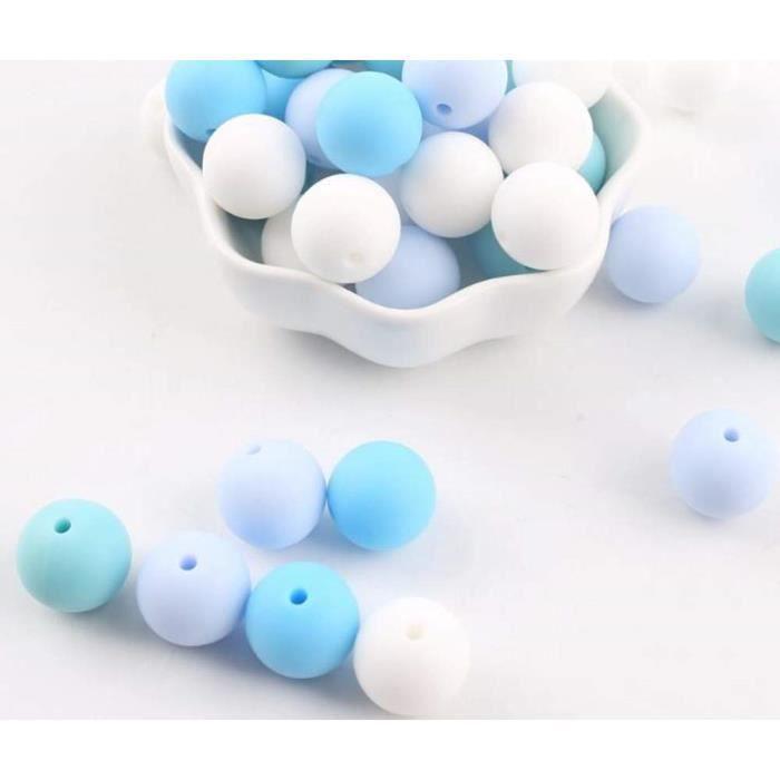 Perle lentille en silicone de 12 mm lot de 10 perles Gris clair