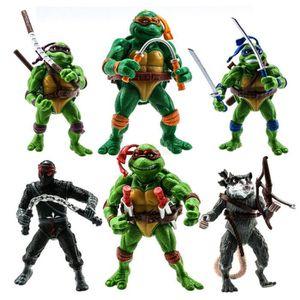 ROBOT - ANIMAL ANIMÉ 6PCS / Set TMNT Teenage Mutant Ninja Turtles Figur