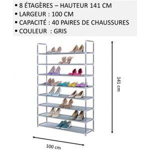 MEUBLE ÉTAGÈRE Meuble Chaussures,No52, Modulable 2 14 Étagères (1