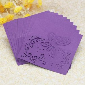 FAIRE-PART - INVITATION 20pc creux papillon délicat sculpté carte d'invita