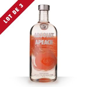 VODKA 3X Absolut Apeach (Pêche) 70cl  - Vodka
