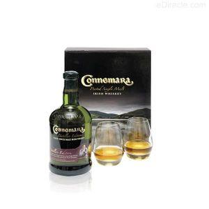 WHISKY BOURBON SCOTCH Coffret whiskey irlandais Connemara + 2 verres