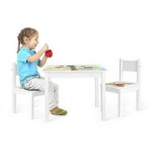 TABLE BÉBÉ      Table et 2 chaises enfant motif HIBOUX