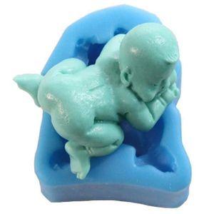 MOULE  3D Taille moyenne bébé endormi moule en silicone,