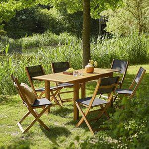 Salon de jardin bois acacia