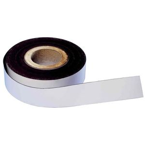 ADHÉSIF ruban magnétique, PVC, blanc , 50 mm x 30 m