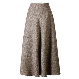 JUPE jupe longue évasée à taille haute pour femmes 1X8I