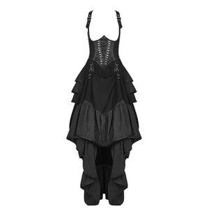 JUPE Jupe corset à bretelles avec drapé, laçages et fau
