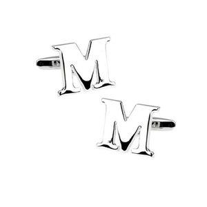 Lettre r Acier Or Classique Mariage Hommes une paire de boutons de manchette en acier inoxydable