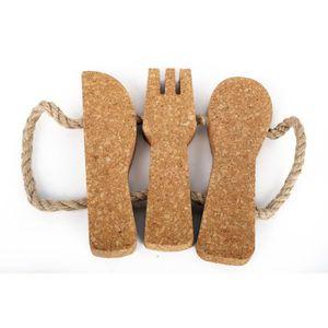 DESSOUS DE PLAT  Dessous de plat en liège Couverts - L. 20 cm - Mar