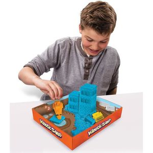 JEU DE SABLE À MODELER Moulage Kinetic Sand : Coffret de chantier  Colori