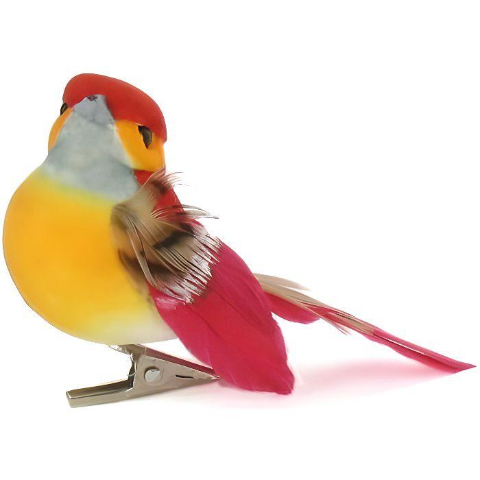 ARTEMIO Oiseaux Décoratifs sur Pince