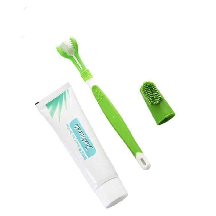 Tonsee® Brosse à dents et dentifrice pour chien Meilleur soin dentaire oral Nettoyage des de l'haleine fraîche -Dentifrice animaux