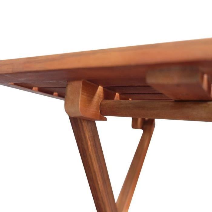 KAI Table basse d'extérieur Bois d'acacia