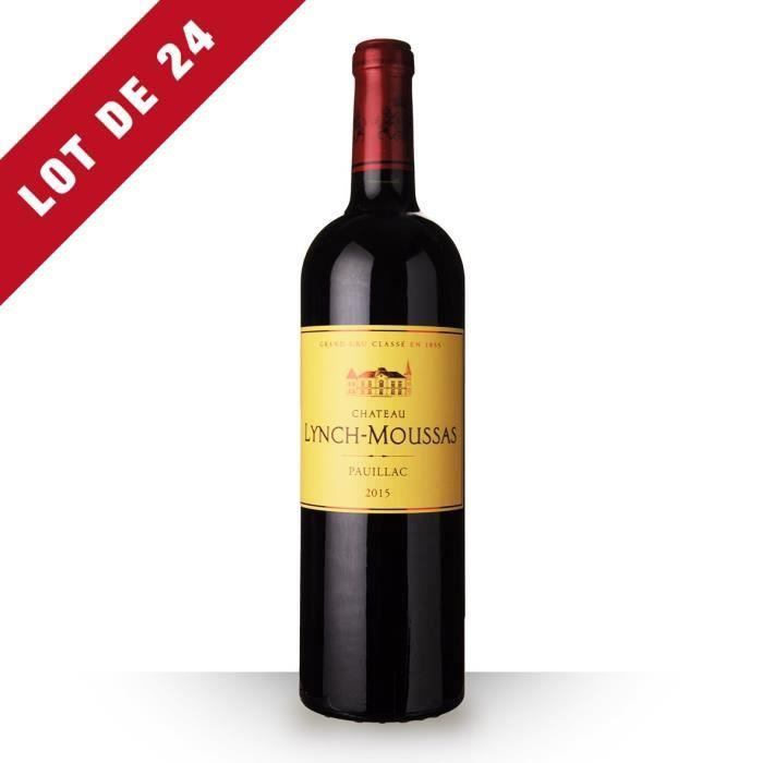 24x Château Lynch-Moussas 2015 AOC Pauillac - 24x75cl - Vin Rouge