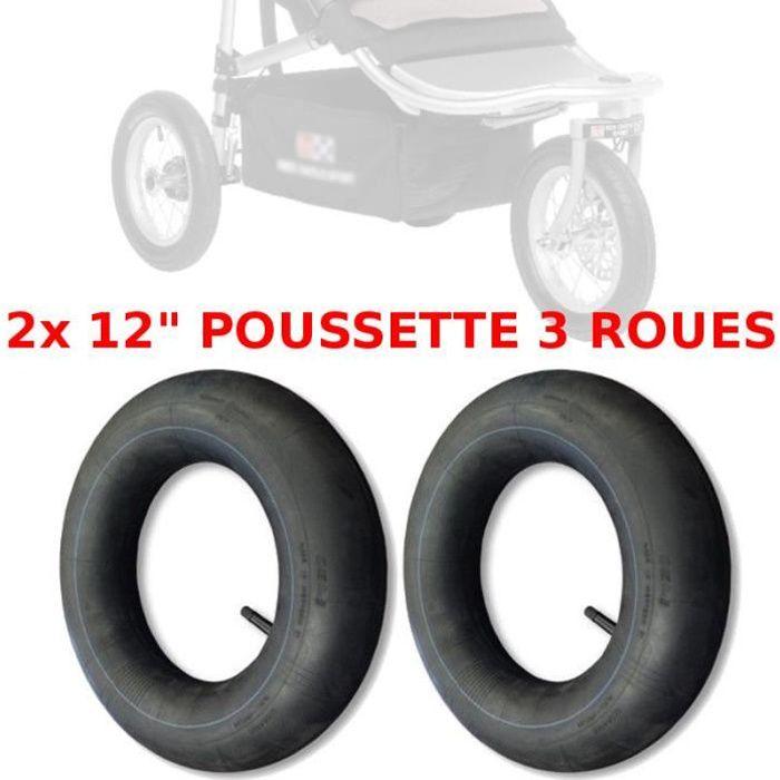 2x CHAMBRE A AIR POUSSETTE 3 ROUES 12- TYPE RED CASTLE SHOP'N JOGG DISC NEUF