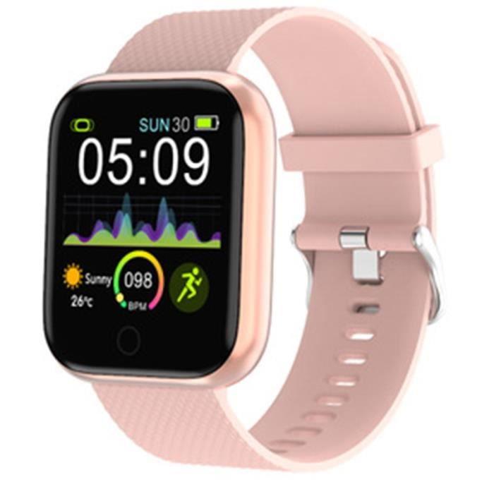 Montre intelligente hommes sport étanche Tracker femmes fréquence cardiaque Fitness moniteur prévisions météorologiq - Rose - WL9946