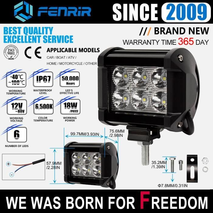 805-0046 -Rampe Led, moto phare Led, pour voiture lumière Led Bar, chariot, travail Niva 4x4, bateau, ATV Suv, accessoires Subaru fo