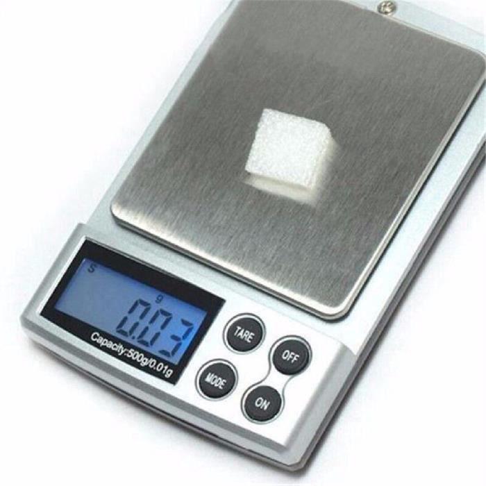 PLUS 1pc 500g x 0.01g Balance de précision numérique or argent bijoux poids Balance balances LCD unités d'affichage poche balances