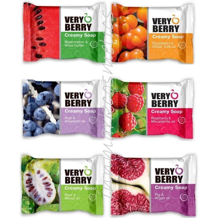 Savons et nettoyants pour les mains Verry Berry Cremige Goji-Beere & Jojoba Savon 100 g 781298