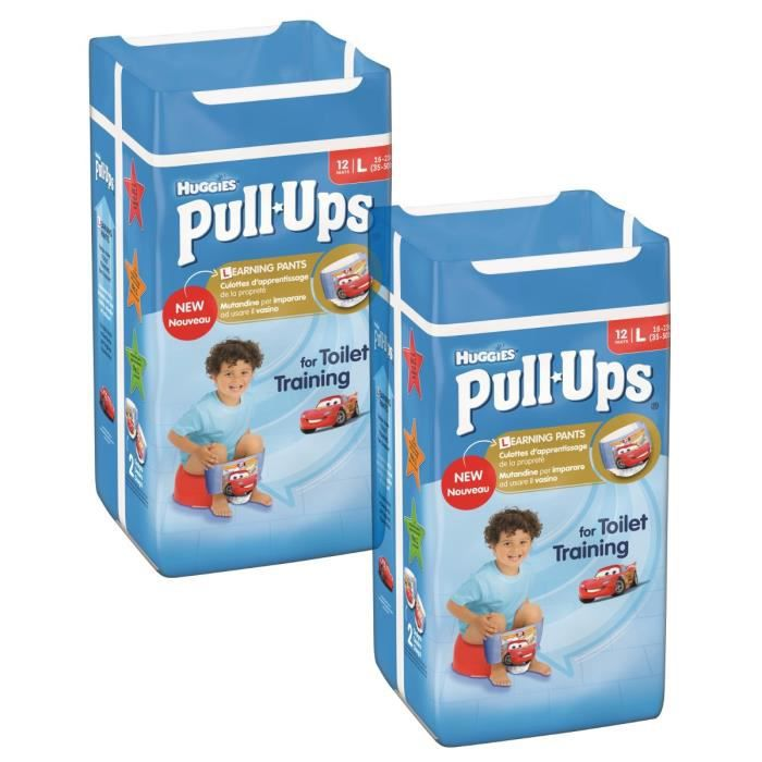 Lot de 2 HUGGIES Pull-Ups Boy Taille 6 - De 16 à 23kg - 12 couches