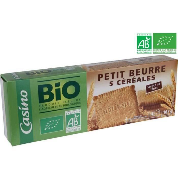 CASINO Petit beure 5 céréales - Bio - 167g