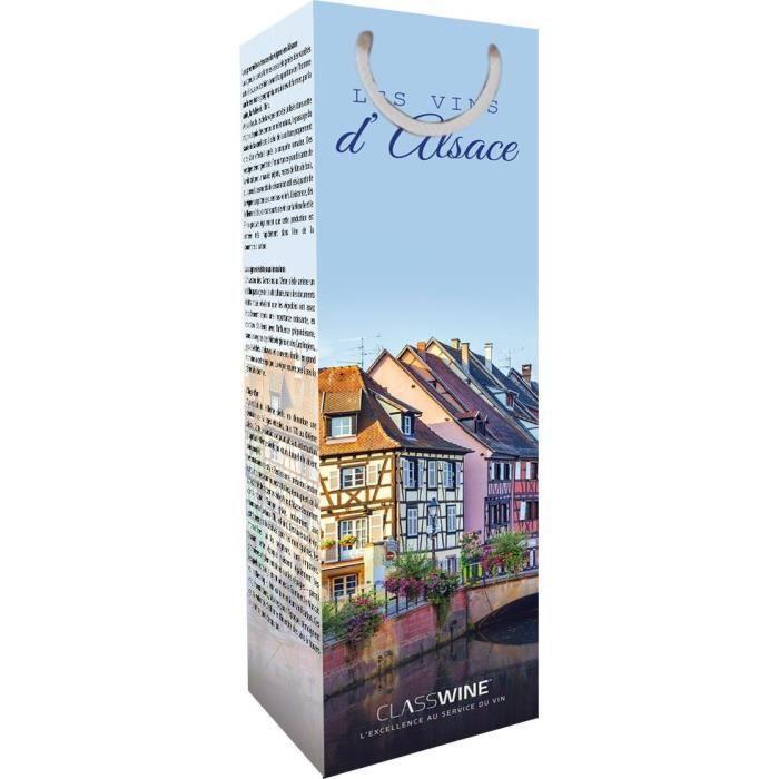 CLASSWINE Pochette pour 1 bouteille vin d'Alsace Maison