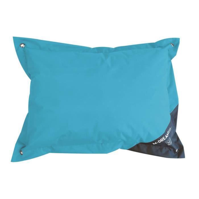 MPETS Coussin d'extérieur Natuna 80 cm - Taille S - Turquoise et gris - Pour chien