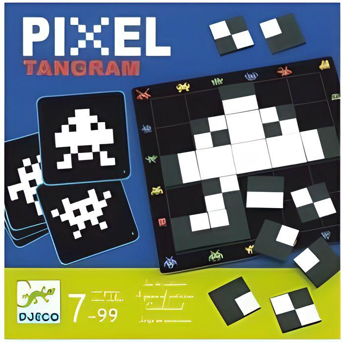 Casse tete Pixel Tangram 30 défis - Jeu de reflexion 7 a 99 ans - Djeco