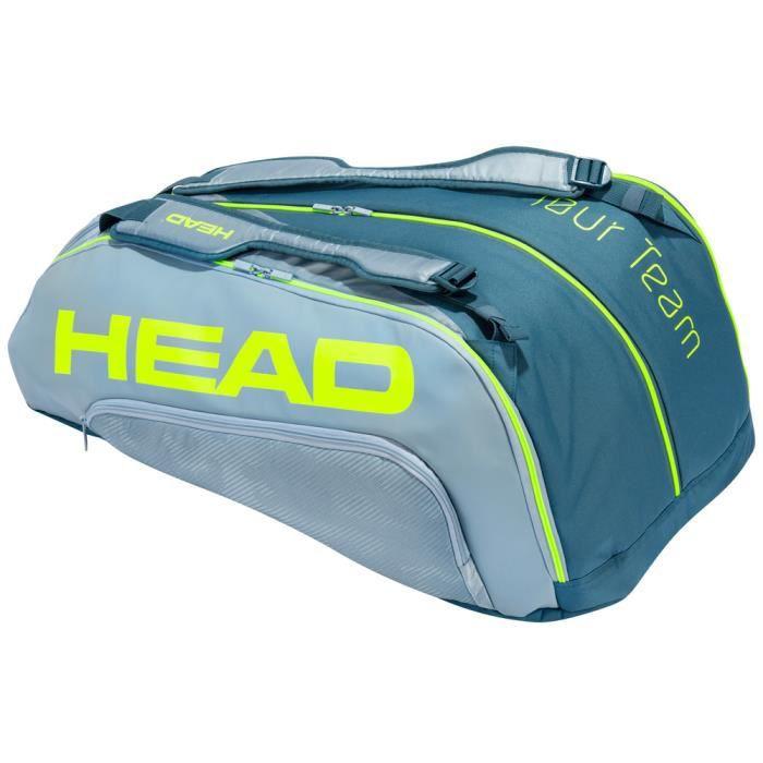 Sac de Tennis Head Tour Team Extreme 12R Monstercombi - Couleur:Gris Type Thermobag:12 raquettes