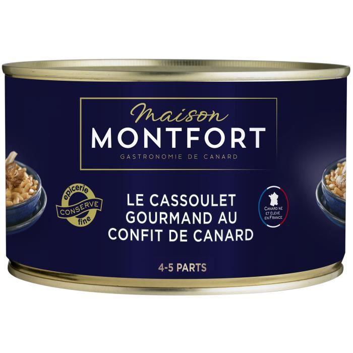 MAISON MONTFORT Le Cassoulet gourmand au confit de canard - 4-5 parts - 1350 g