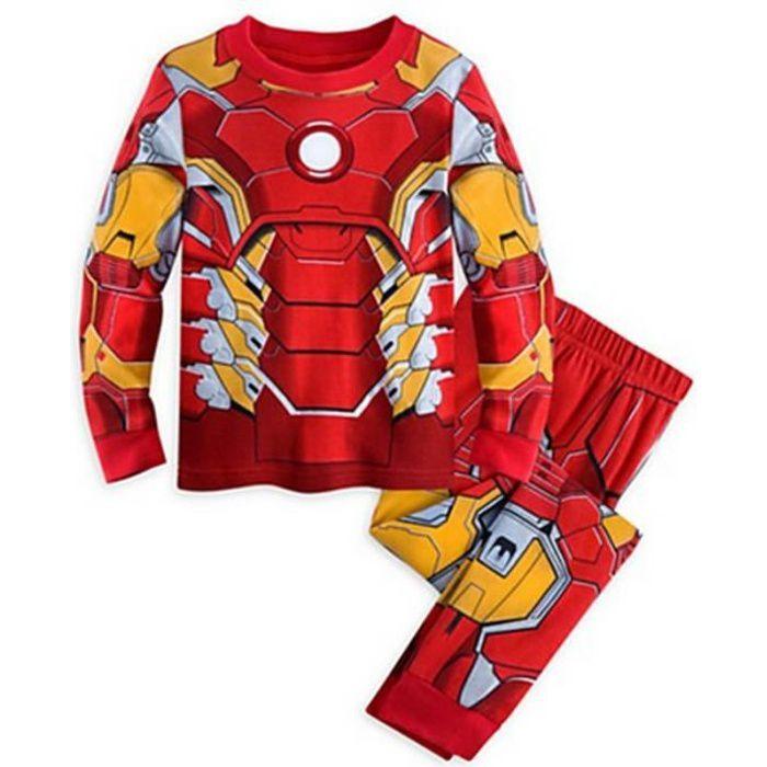 1-7 Ans Garçon Pyjama Super-héros 2PCS Ensemble de Vêtement : T-shirt avec Cape + Pantalon