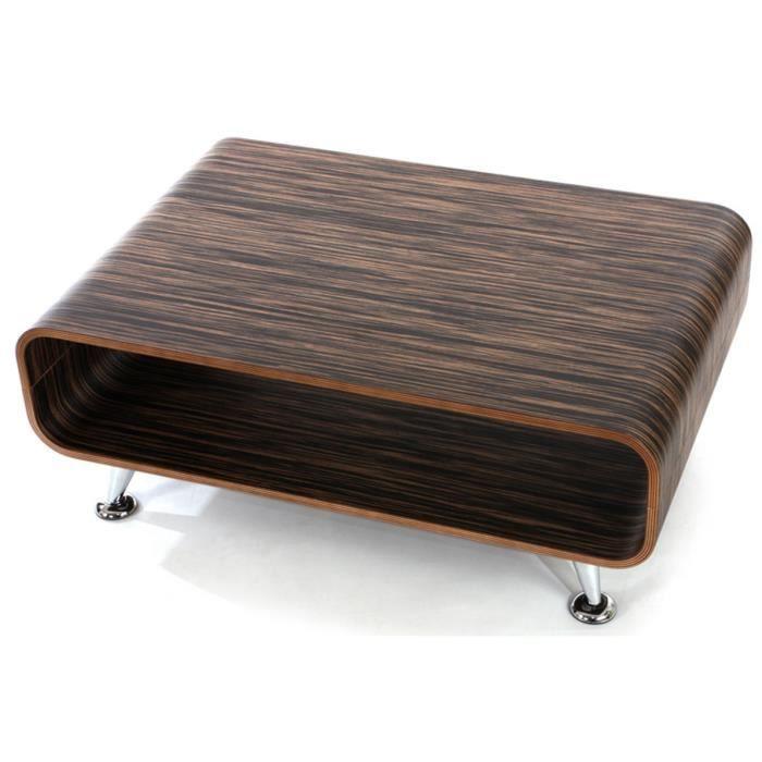 Table basse Pérouse XXL brun foncé, Dim : 33,5 …