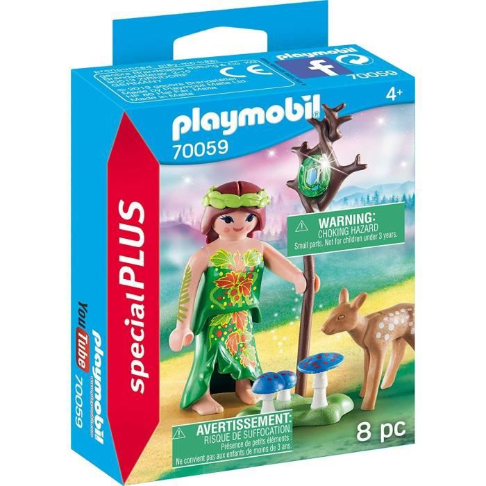PLAYMOBIL 70059 - Magic - Spécial Plus - Nymphe et faon