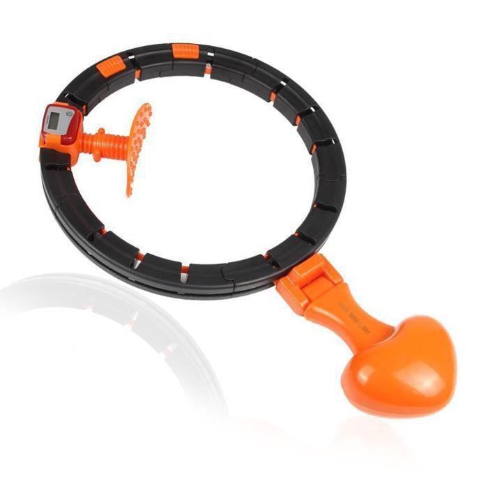 TD® Cerceau d'Exercice de Fitness Intelligent Cercle Amincissant à Taille Réglable Équipement Sport Comptage automatique