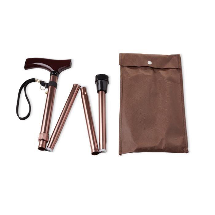 VITILITY - Canne de marche pliante classique - Couleur bronze