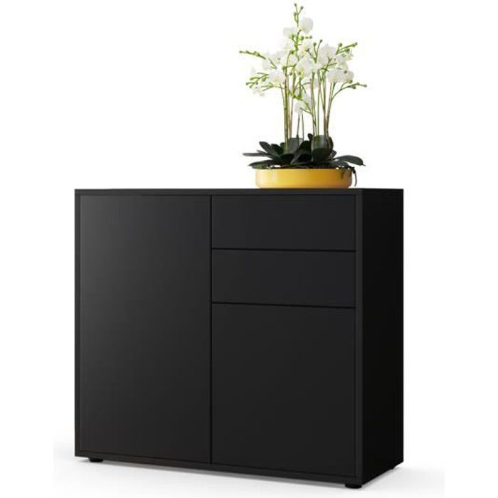 buffet noir conforama awesome buffet salon noir conforama. Black Bedroom Furniture Sets. Home Design Ideas