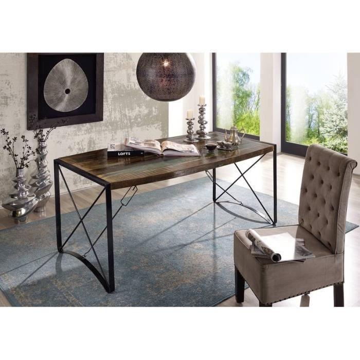 TABLE À MANGER SEULE Table à manger 180x90cm - Fer et bois massif recly