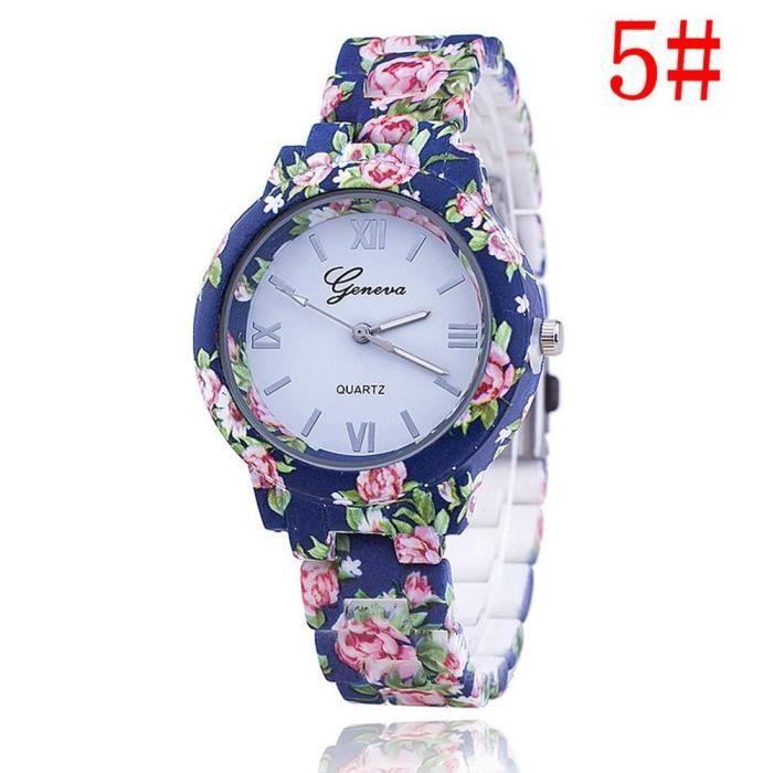 MONTRE Geneva nouvelle fleur floral montre bracelet montr
