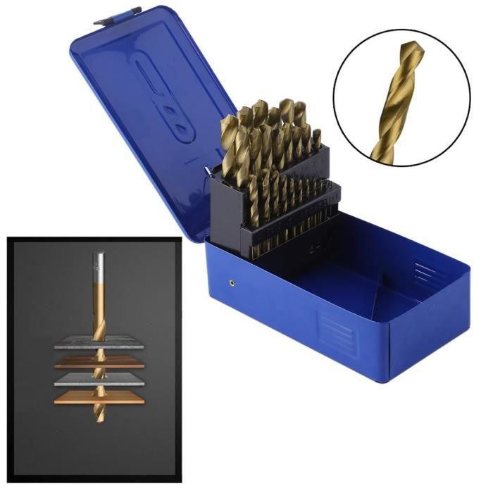 5pcs 1.5 mm Twist Drill W Revêtement Titane Haute Vitesse Acier Bit Hss M35 Co F acier