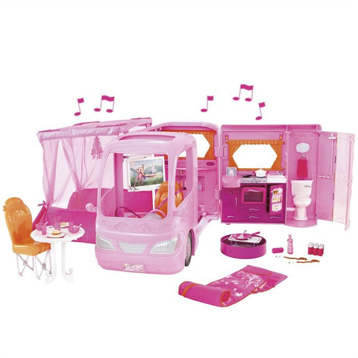 barbie camping car rose achat vente poup e cdiscount. Black Bedroom Furniture Sets. Home Design Ideas