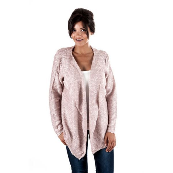 gilet effet cache coeur sequin rose achat vente gilet cardigan gilet effet cache. Black Bedroom Furniture Sets. Home Design Ideas