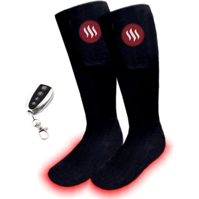 CHAUSSETTES MULTISPORT Chaussettes de ski chauffants avec télécommande, t