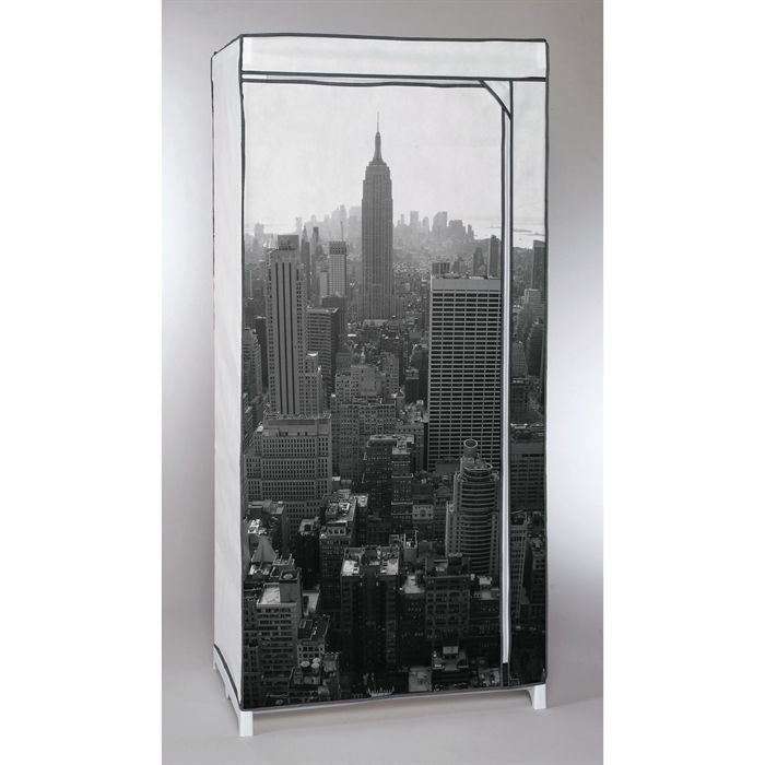 penderie souple new york empire state building 160x65x75. Black Bedroom Furniture Sets. Home Design Ideas