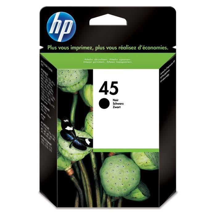 HP 45 cartouche d'encre noire authentique (51645AE)