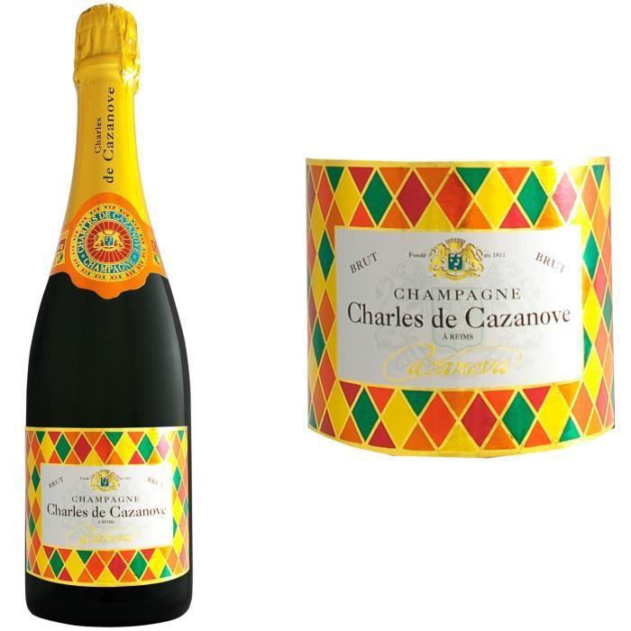 Champagne Charles de Cazanove Cazanova Arlequin Brut - 75 cl