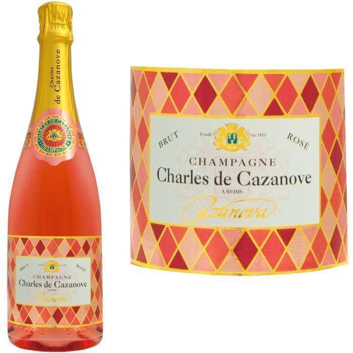 Champagne Charles de Cazanove Cazanova Arlequin Rosé - 75 cl