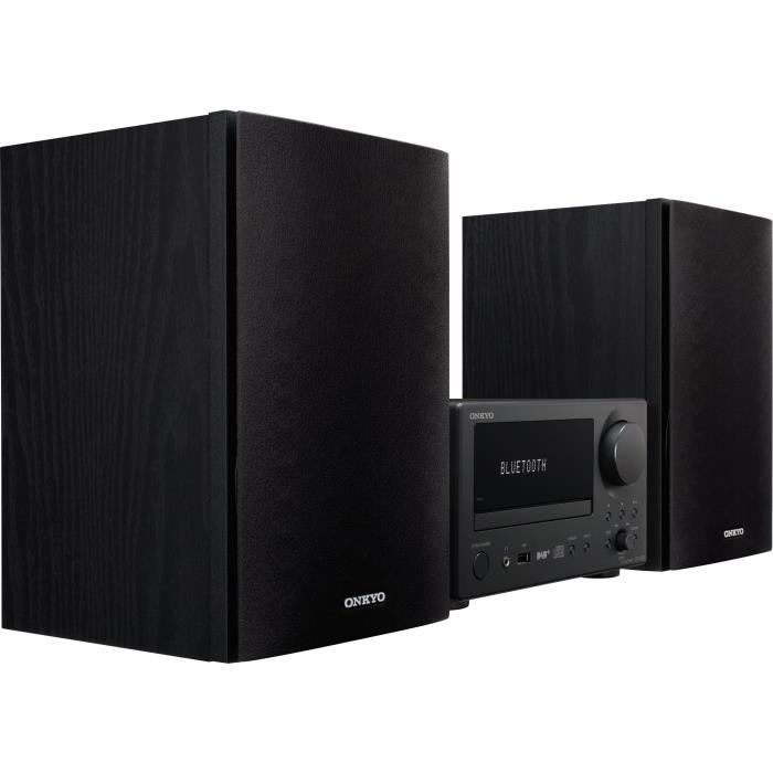 ONKYO CS-375D Microchaine CD - Enceintes 2 voies Bass-Reflex - Noir