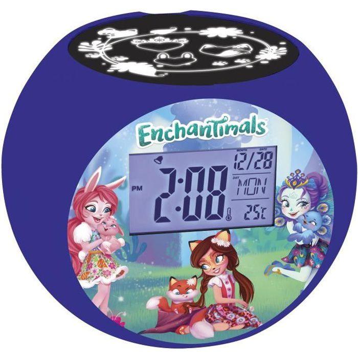 ENCHANTIMALS Radio réveil projecteur chambre enfant LEXIBOOK